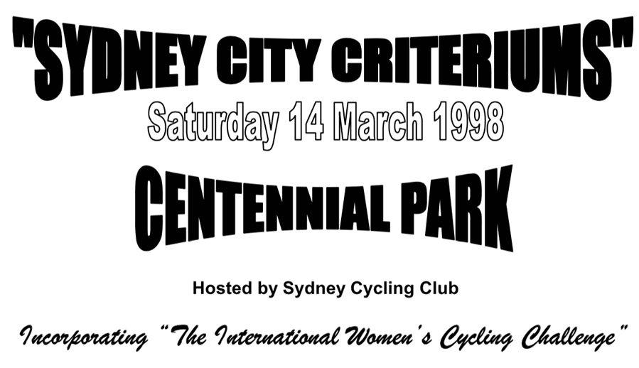 1998 Sydney City Criterium