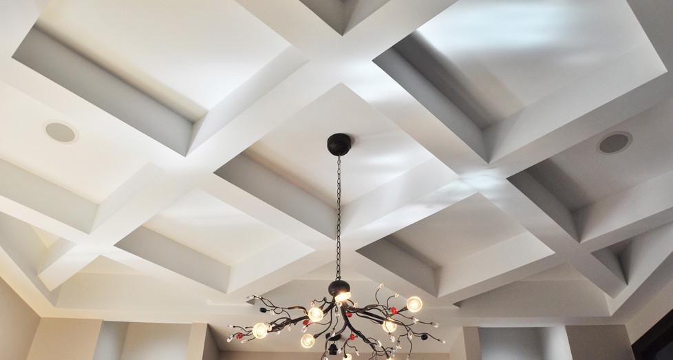 Custom Residential Coffered Ceiling