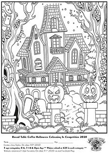 2020 Halloween Colouring In Competition.
