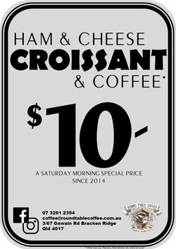 Ham Cheese Croissant Saturday