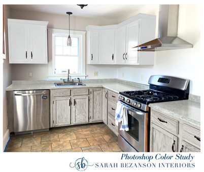 After - ALL CABINETS_ Light Gray Stain w