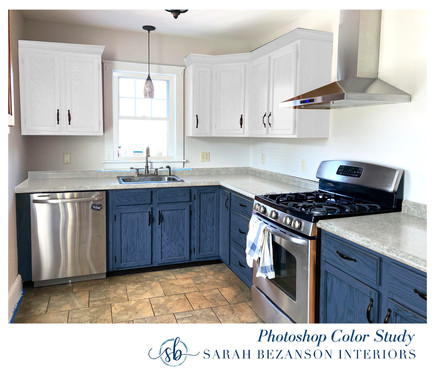 After - ALL CABINETS_ Dark Blue stain lo