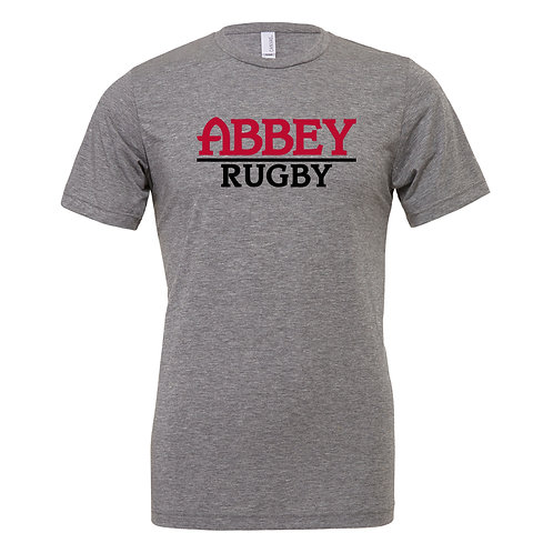 Belmont Abbey Rugby Canvas Tri-Blend SS T-Shirt 3413C