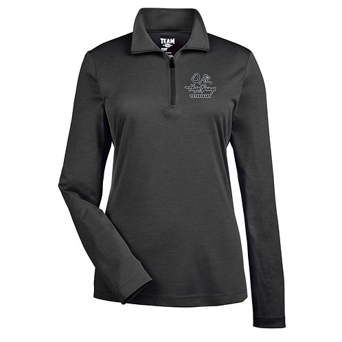 Team365 Women's Sonic Heather 1/4 Zip Hope Springs (Heather Black)