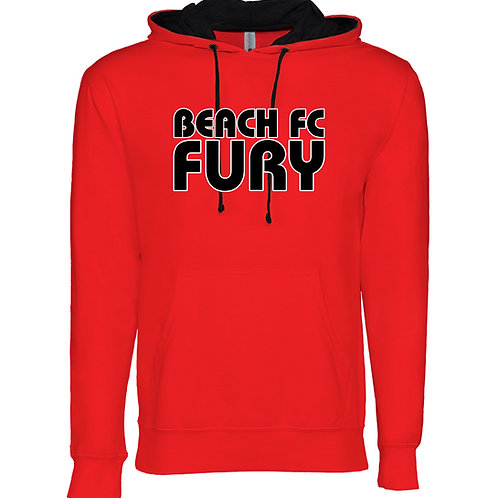 Beach FC Fury Next Level 9301 Adult French Terry Hoody (Red)
