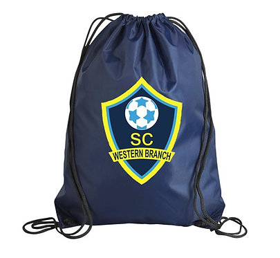 Western Branch Soccer Club Advanced Gym Sack (Various Colors)