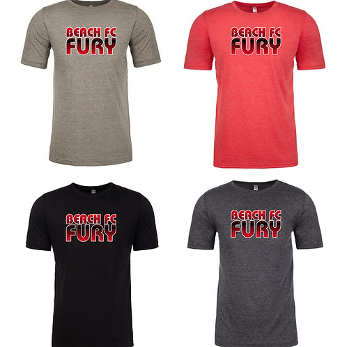 Beach FC Fury Next Level Men's Poly/Cotton SS T-Shirt 6200