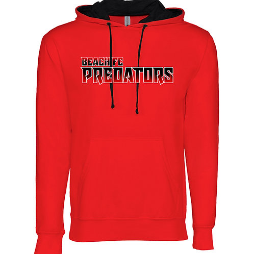 Beach FC Predators Next Level 9301 Adult French Terry Hoody (Red)