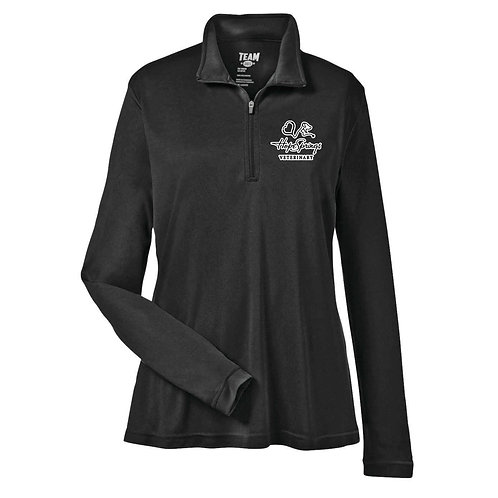 Team365 Women's Zone 1/4 Zip Hope Springs (Black)