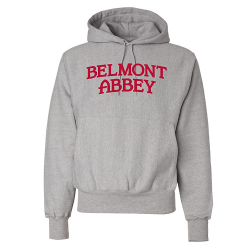 Champion® Belmont Abbey 12 oz. Reverse Weave Hooded Sweatshirt