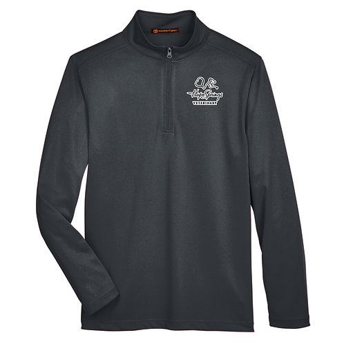 Harriton Men's Advantage 1/4 Zip Hope Springs (Charcoal)
