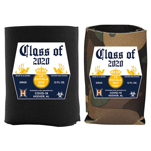 HOOVER Class of 2020 Can Koozies (2 pack)