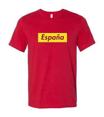 Spain Espana World Cup Country Tee (Red)