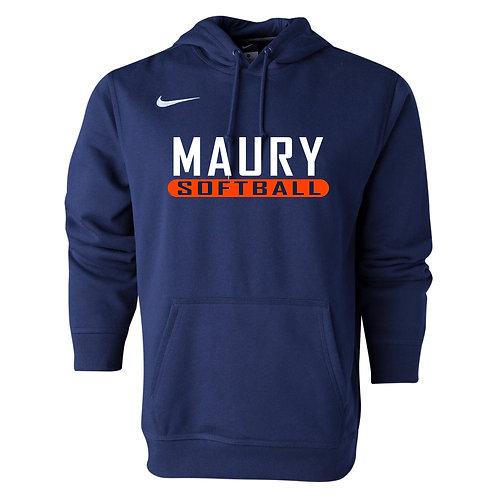Nike Men's Club Fleece Hoody Maury Softball