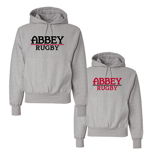 Champion® Belmont Abbey Rugby 12 oz. Reverse Weave Hooded Sweatshirt