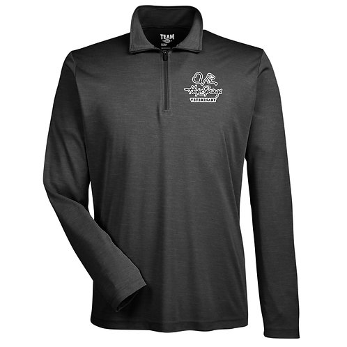 Team 365 Men's Sonic Heather 1/4 Zip Hope Springs (Heather Black)