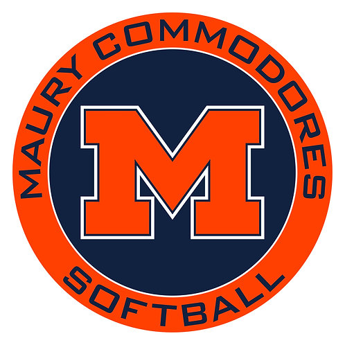 "Maury Softball Vinyl Decal 3.5"" Wide"