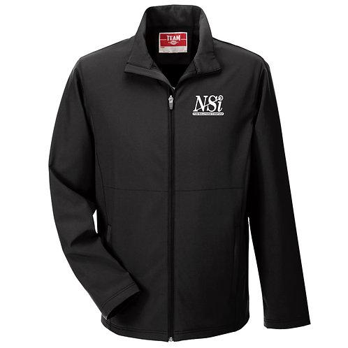 NSI Men's Team365 Leader Soft Shell Jacket (Black)