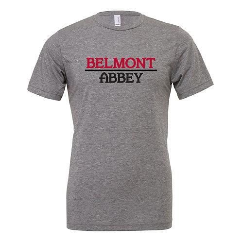 Belmont Abbey Canvas Tri-Blend SS T-Shirt 3413C