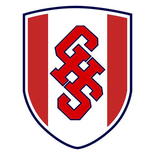 "Grassfield Soccer Logo Vinyl Decal 3"" Wide"