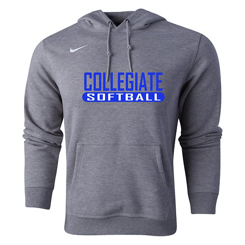 Nike Men's Club Fleece Hoody Collegiate Softball
