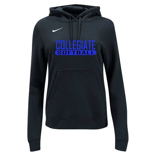 Nike Women's Club Fleece Hoody Collegiate Softball