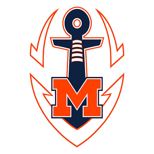 "Maury Football Logo Vinyl Decal 3"" Wide"
