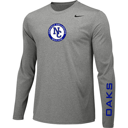 Nike Long Sleeve Legend Regatta Shirt Norfolk Collegiate Sailing