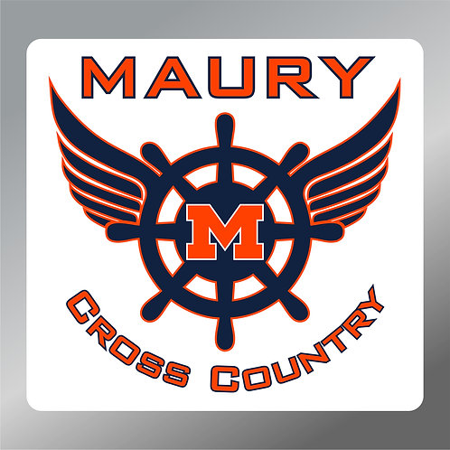 "Maury Cross Country Vinyl Decal 4"" Wide"