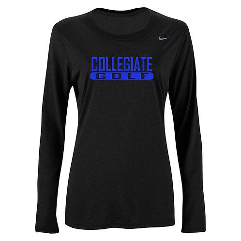 Nike Women's Legend LS Crew Collegiate Golf