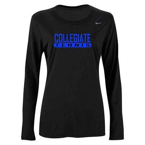 Nike Women's Legend LS Crew Collegiate Tennis