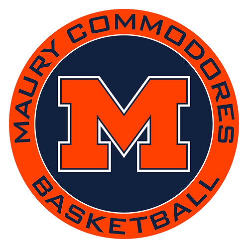 "Maury Basketball Vinyl Decal 3.5"" Wide"