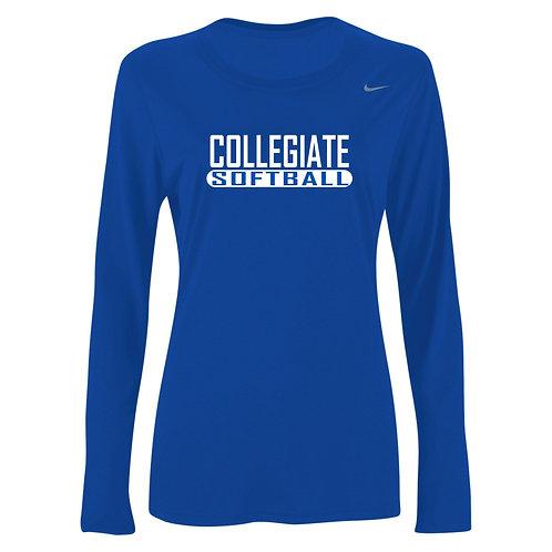 Nike Women's Legend LS Crew Collegiate Softball