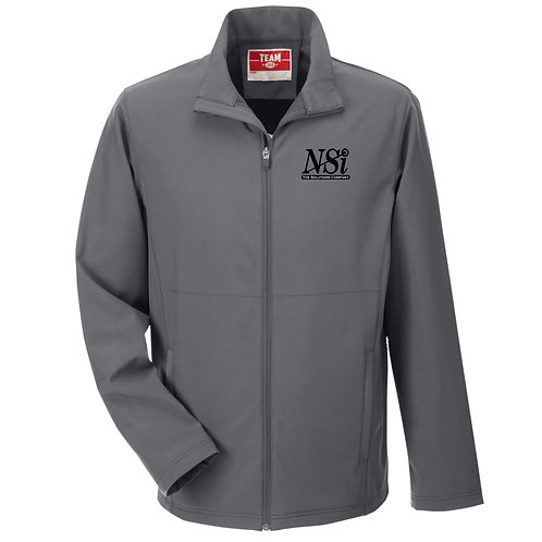 NSI Men's Team365 Leader Soft Shell Jacket (Dark Grey)