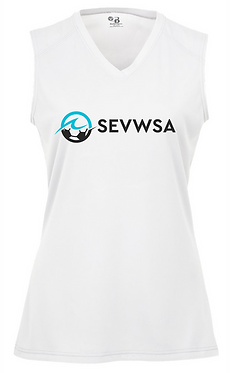 SEVWSA Women's Sleeveless Jersey (White)