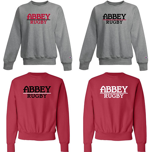 Champion® Belmont Abbey Rugby 12 oz. Reverse Weave Crewneck Sweatshirt