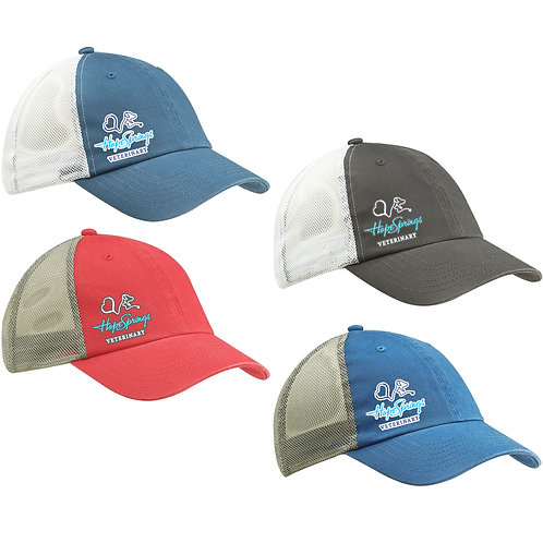 Hope Springs Washed Snapback Trucker Hat OS BA601