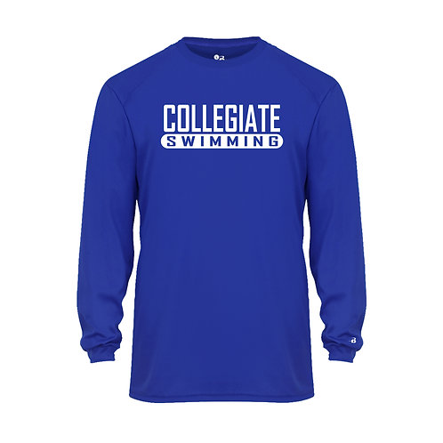 Badger Men's B-Core LS Shirt Collegiate Swimming