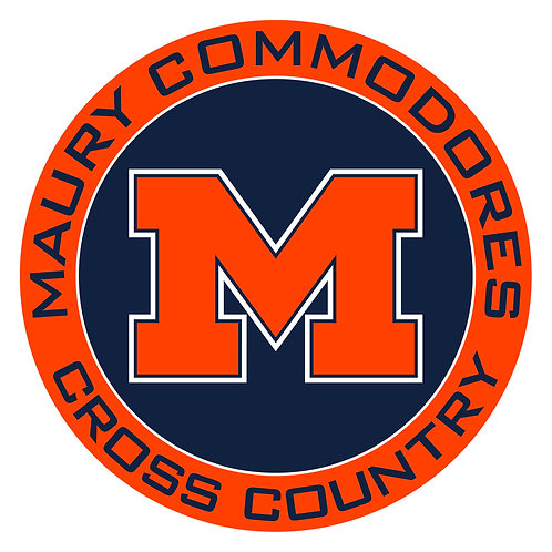 "Maury Cross Country Vinyl Decal 3.5"" Wide"