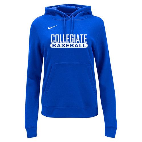 Nike Women's Club Fleece Hoody Collegiate Baseball