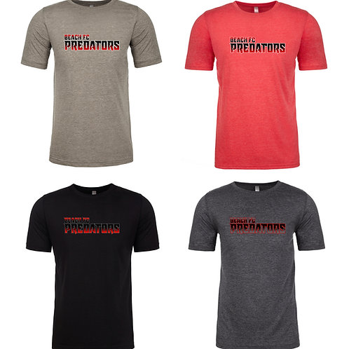 Beach FC Predators Next Level Men's Poly/Cotton SS T-Shirt 6200