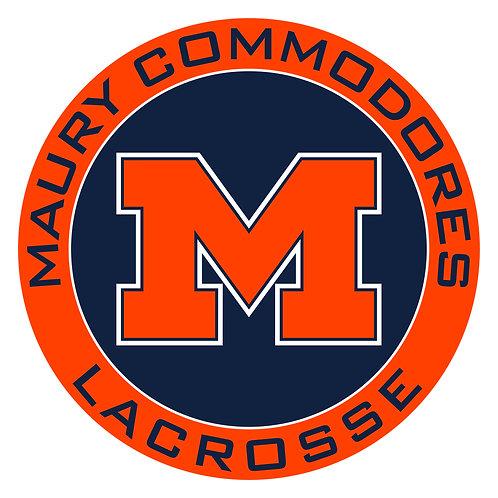 """Maury Lacrosse Vinyl Decal 3.5"""" Wide"""