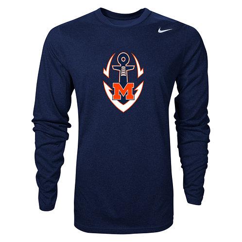 Nike Men's Legend LS Crew Logo Maury Football