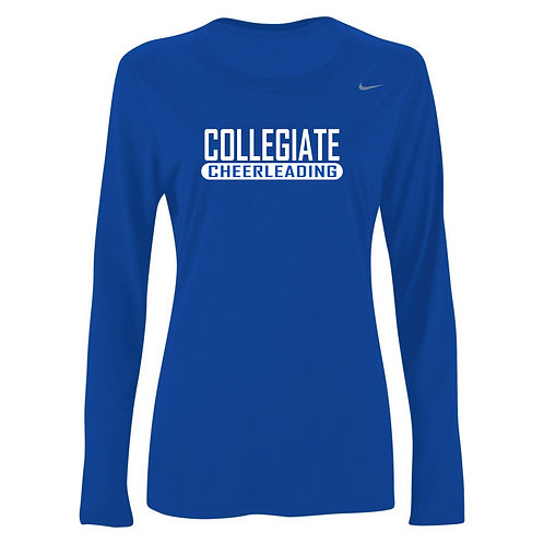 Nike Women's Legend LS Crew Collegiate Cheer