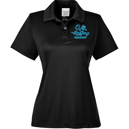 Team 365 Women's Zone Polo Hope Springs (Black) TT51W