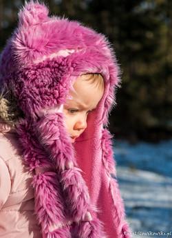 Zimowy portret dziecka