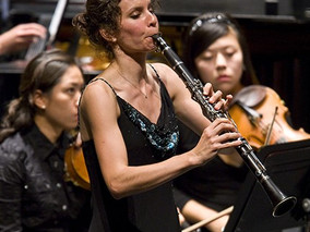 Performing Copland Clarinet Concerto at Music Academy of the West