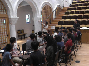 Laura teaches a masterclass on reedwork at the Pasadena Conservatory of Music.