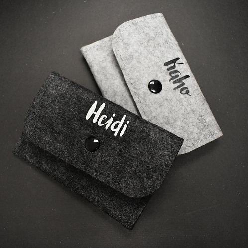"""""""自定英文名字""""毛氈卡包 (Felt Card Holder)"""