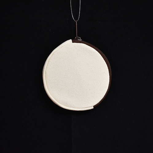 """""""自定中文手寫單字""""圓形散紙包(circle coins bag)"""